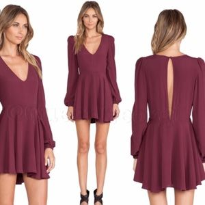 Lovers+Friends Scarlet/Maroon Shimmy Dress